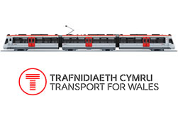 Transport for Wales logo and train image